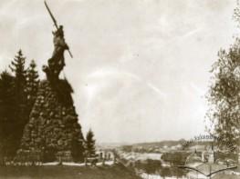 Monument to Bartosz Glowacki and View of the City