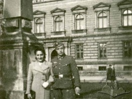 A German military man in front of the Lviv University