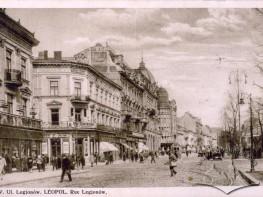 Prospekt Swobody z widokiem na hotel Grand