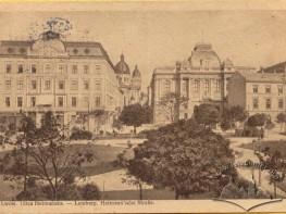 Prospekt Swobody z widokiem na Muzeum Narodowe