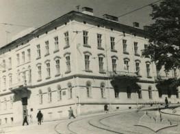 Institute of Social Sciences of the Academy of Science Ukrainian SSR building on Radianska street,24 (Vynnychenka street now)