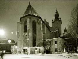 Eastern side of Lviv cathedral church