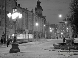 Southern side of Rynok square - night view