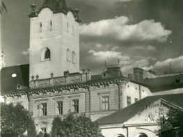 View of cathedral and Holy Spirit square (Ivana Pidkovy square now)